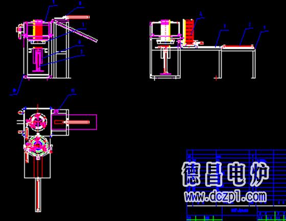 供应钢环(齿环)立式中频加热炉